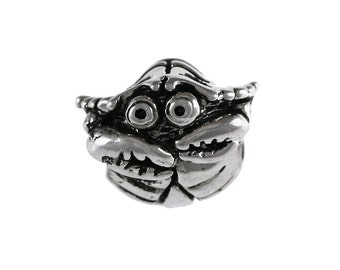 Mr. Crabby Hilarious Large Hole Sterling Silver Bead - Compatible with ALL Popular Bracelet Brands - Made ENTIRELY in the USA! - Item #20617
