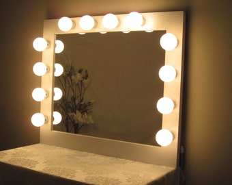 Vanity Mirror With Lights Hollywood Style : Large Hollywood Lighted Vanity Mirror w/ WIDE MIRROR