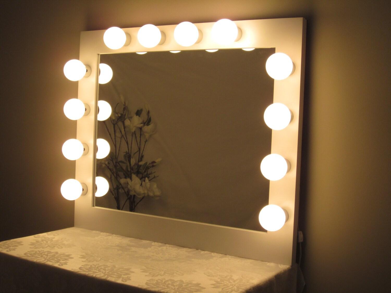 large hollywood lighted vanity mirror w by lightedimpressions. Black Bedroom Furniture Sets. Home Design Ideas