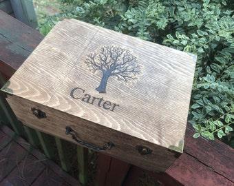 Wedding, keepsake, note, money holder, box, tree,