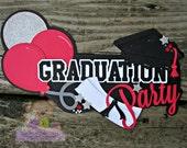 Graduation embellishment, Scrapbook paper piecing, Custom scrapbooking Title, Graduation Party Sign Decoration MADE to Order