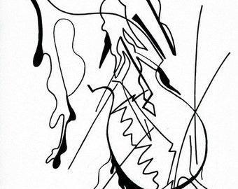 No.4, classical music - inspired, fine art giclee print