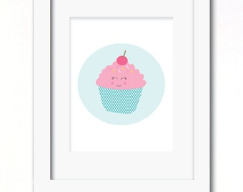 A4 cupcake print