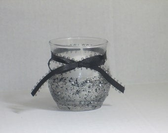 Black and White candle holder