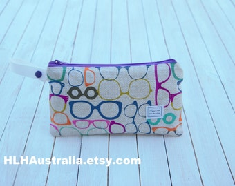 Small Wet Bag. Cosmetic Bag. Makeup Bag. Toiletry Bag. Happy Little Handmades.  Perfect Vision