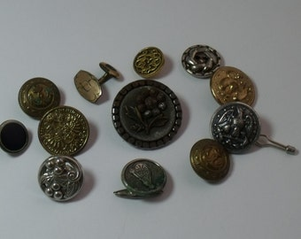 Destash Lot 11 Vintage Buttons  j151