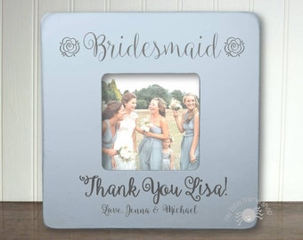 Bridesmaid Gift  Bridesmaid Frame Personalized Frame Thank You Gift For Bridesmaid IBFSWED