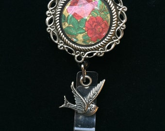 Rose and Sparrows-Nurse Retractable ID Badge Reel/ RN Badge Holder/Doctor Badge Reel/Nurse Badge Holder/Nursing Student Gifts
