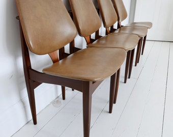 Elliotts Of Newbury EON Mid Century Modern Teak Dining Chairs
