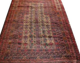 Antique Afghan Dokhat-i-Ghazi Prayer RUg