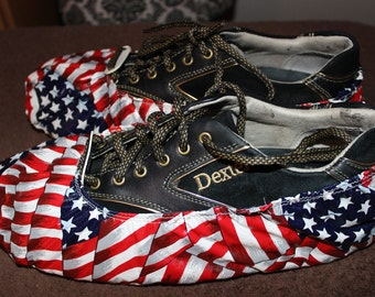Bowling Shoe Covers - U.S. Flag