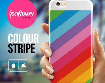 Rainbow striped iPhone 6 case, iPhone 5C case, iPhone 6 plus Case, iPhone 5s Case, Colorful Stripes phone case