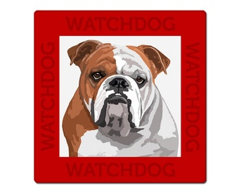 English Bulldog dog sign, plate