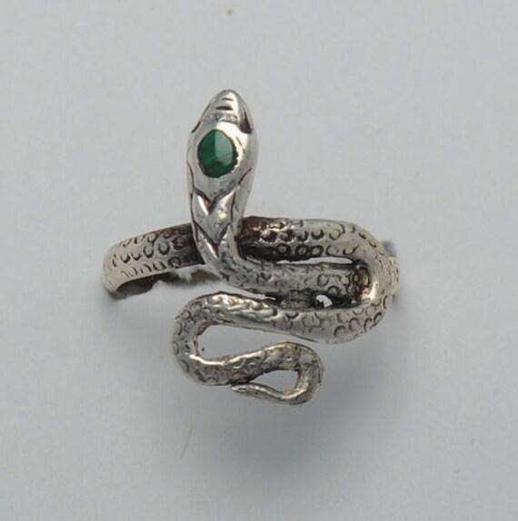 malachite ring snake sterling silver snake ring snakes