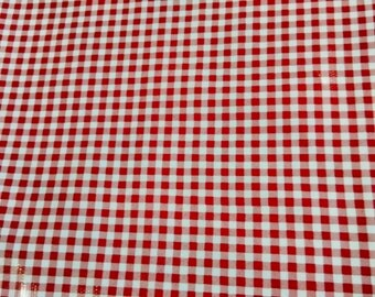 Oil Cloth White w/ Red Plaid