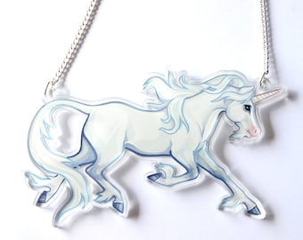 Unicorn Clear Acrylic Necklace