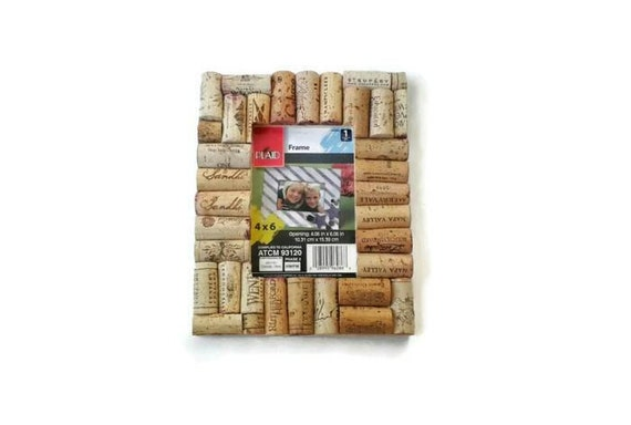 Wine cork picture frame housewarming gift by JnJStudios on Etsy