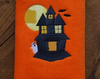Haunted House - Embroidered Fingertip Towel