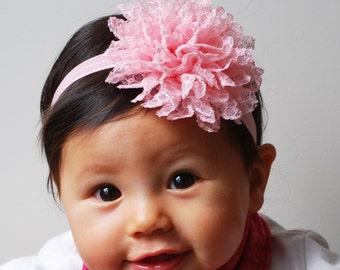 Baby Headband Set Flower Headbands Baby Headbands Baby Hair Accessories Baby Hair Bands Aqua Pink White Hairbands Baby Head Bands Baby Girl