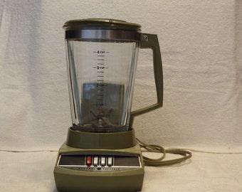 General Electric Blender,  Appliance, Green Blender, Vintage