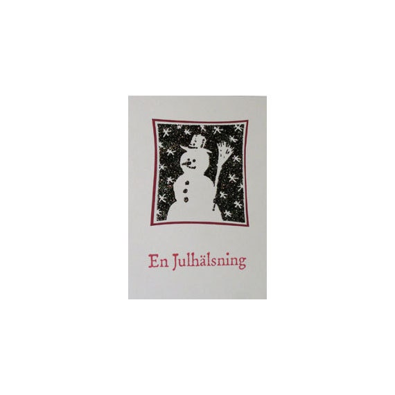 Ez Mounted Rubber Stamp Christmas Winter Snowman