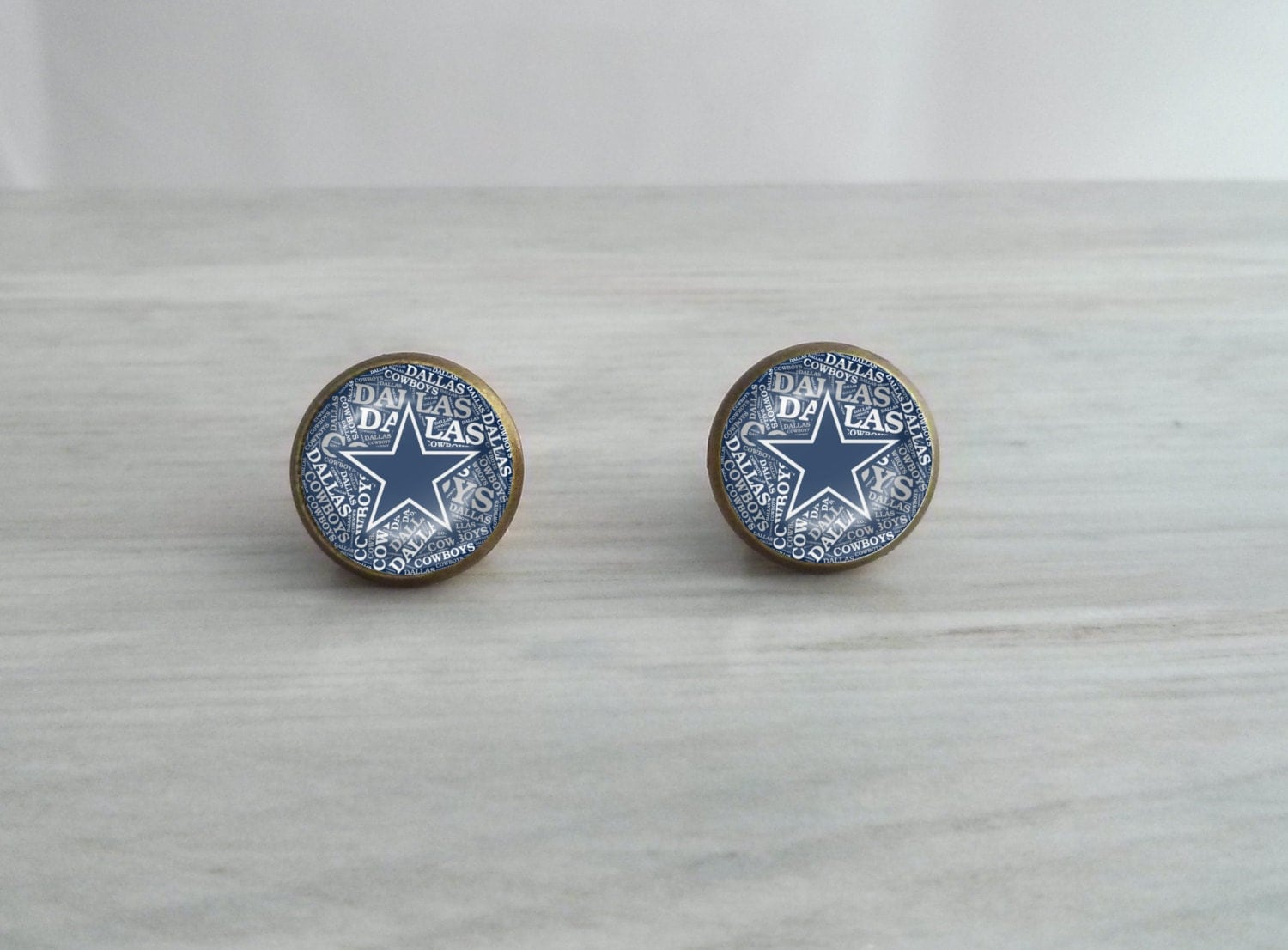 dallas cowboys stud earrings dallas cowboys glass dome earrings choose stud or by 6333
