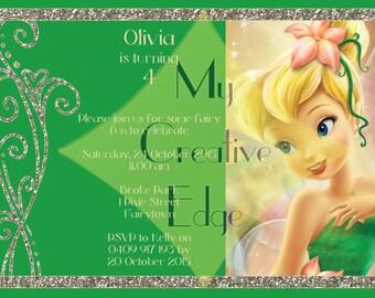 Tinkerbell invitations Etsy AU