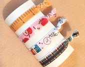 Anthropologie Inspired Hair Ties, Back to School, Teacher's Pet, Back-to-School, Crayons, Apples, Science Class, Ruler, Kids - Accessories