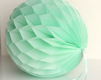 Pistachio tissue paper honeycomb ball -  hanging wedding party decorations - 35cm | 30cm | 25cm | 20cm | 15cm  |10cm