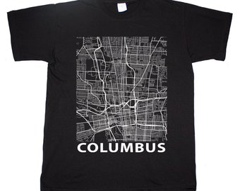 Columbus Ohio Street Map Buckeye State T shirt