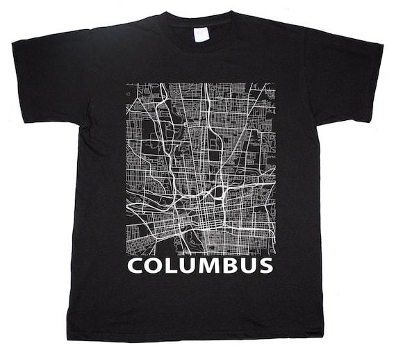 Columbus ohio street map buckeye state t shirt by impalatees for Columbus ohio t shirt printing