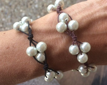 Beaded Cluster String Bracelet to Support Girls on The Run