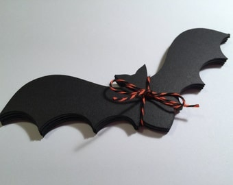"20 Black Bats Die-Cuts - 7""X2.5"" - Halloween, Scrapbooking, Decoration"