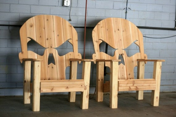 Skull throne local pick up only by wileyconcepts on etsy for Throne chair plans