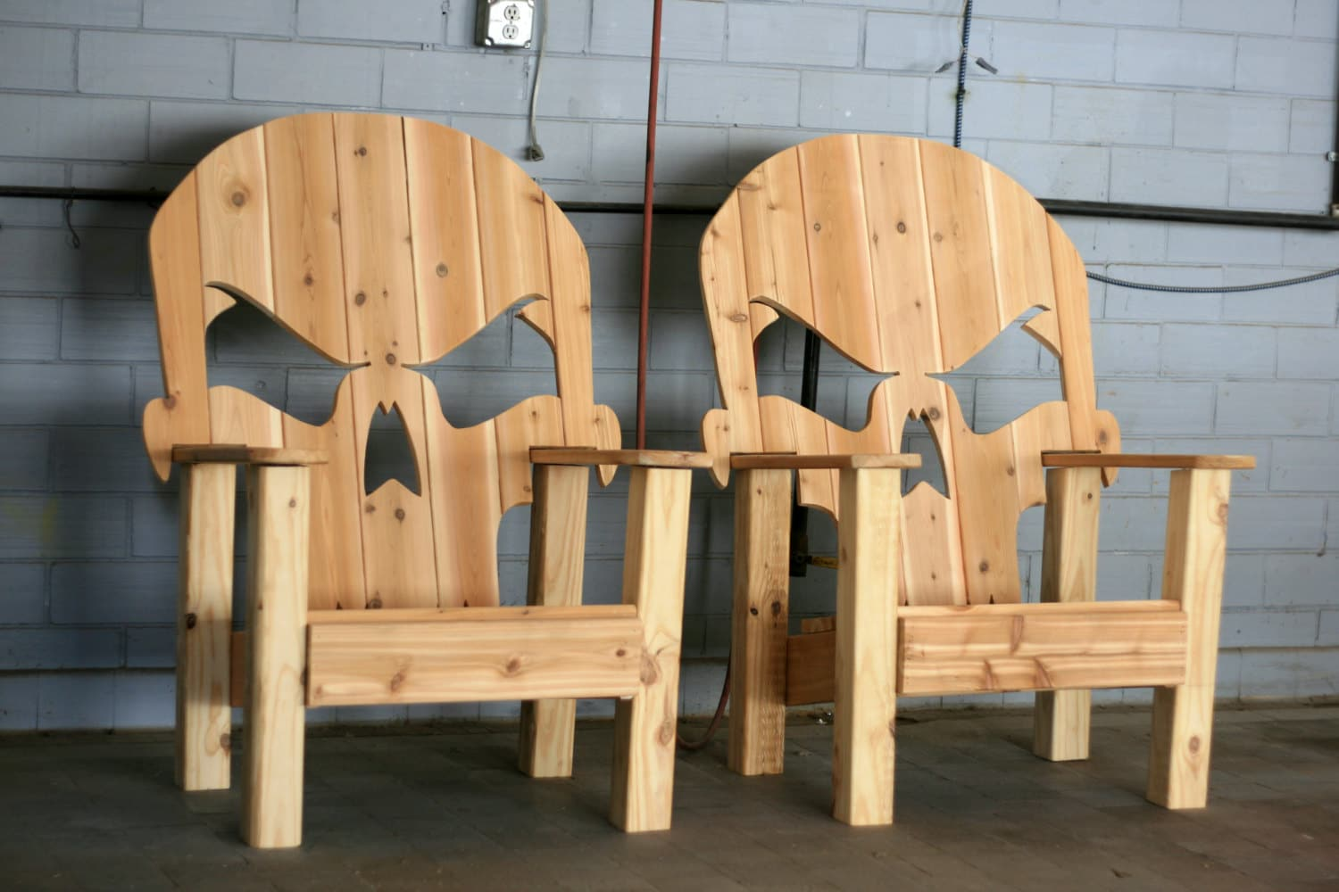 Skull throne local pick up only by wileyconcepts on etsy - Patterns for adirondack chairs ...