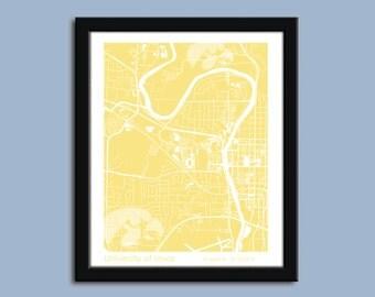 University of Iowa, University of Iowa wall art poster, University of Iowa decorative map