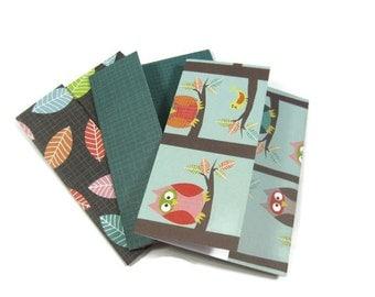 Owl Themed Gift Card Holders, Money Holders Set of Three