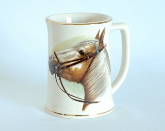 Vintage Grandma Jim Personalized Horse Mug With Gold Trim