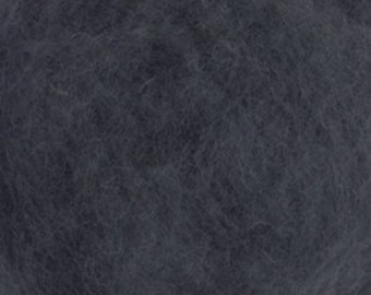 Carded Maori New Zealand Wool for Needle and Wet Felting - Storm