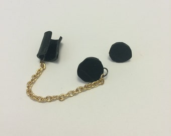 Vinyl Record Cuff Earring with Stud Earring