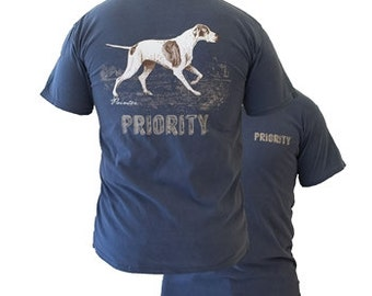 Priority Pointer Dog T Shirt Southern Couture Mens shirt