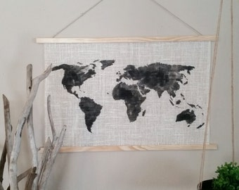 "World Map Tapestry 24''x16'' or 36""x22"""