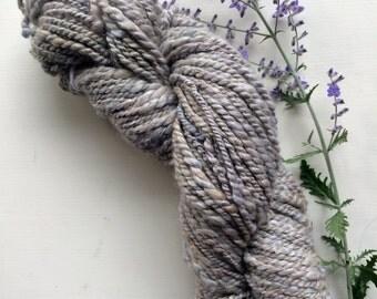 Silvery Purple Alpaca/Angora blend Handspun 2 ply yarn