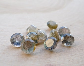 Labradorite 7 mm round faceted lot (20 pcs)