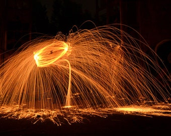 Download - Spinning Fire - Light Painting