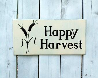 Happy Harvest Sign, Harvest Sign, Thanksgiving Sign, Fall Sign, Thanksgiving Decor, Harvest Decor, Fall Decor, Harvest Decorating