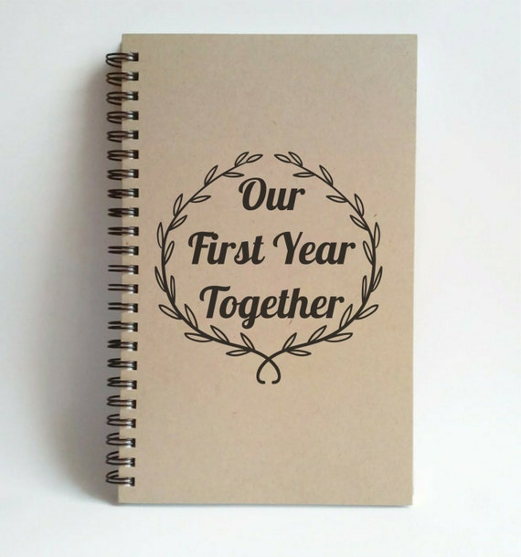 Our first year together writing journal by