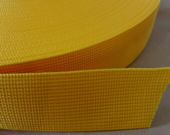 5 Yards, 1.5 inch (3.8 cm.), Polypropylene Webbing, Orange, Key Fobs, Bag Straps, Purses Straps, Belts, Tote Bag Handle