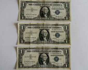 1957 Silver Certificate  Note Blue Seal Series Set