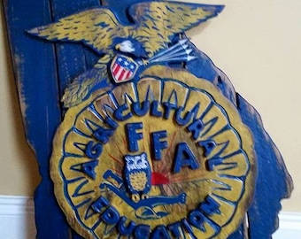 State of Georgia Wooden FFA Sign
